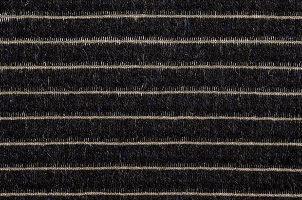 Element from Ruckstuhl is a stunning carpet made from hair, linen, and stainless steel.
